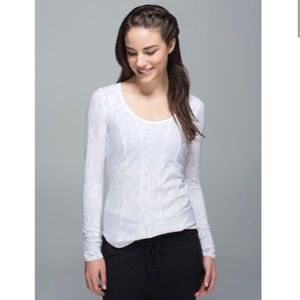 Lululemon Desert White Long Sleeve Running Top